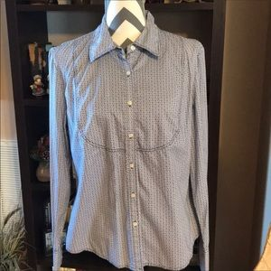 Tommy Hilfiger LARGE Blouse NWT Blue/White.